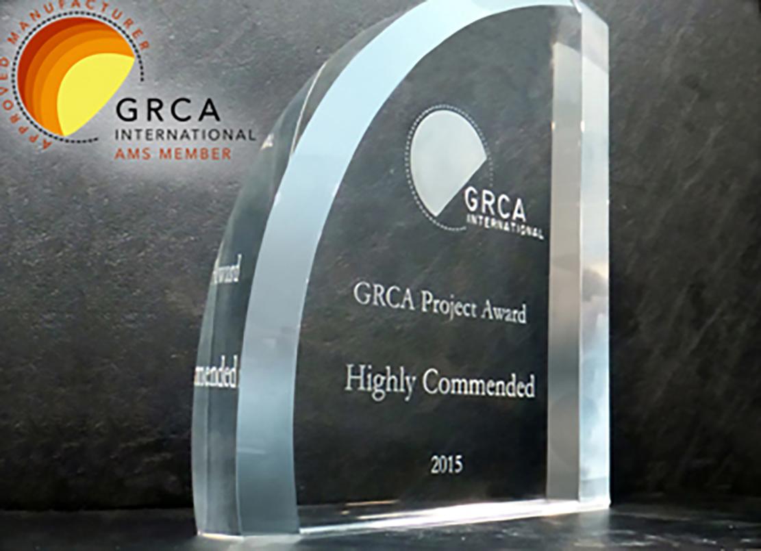 Fibrobeton Dubai'de yapılan 17. Dünya GRC Kongresi'nde PrimeMall AVM ile IGRCA Outstanding Project Ödülü'nü aldı.