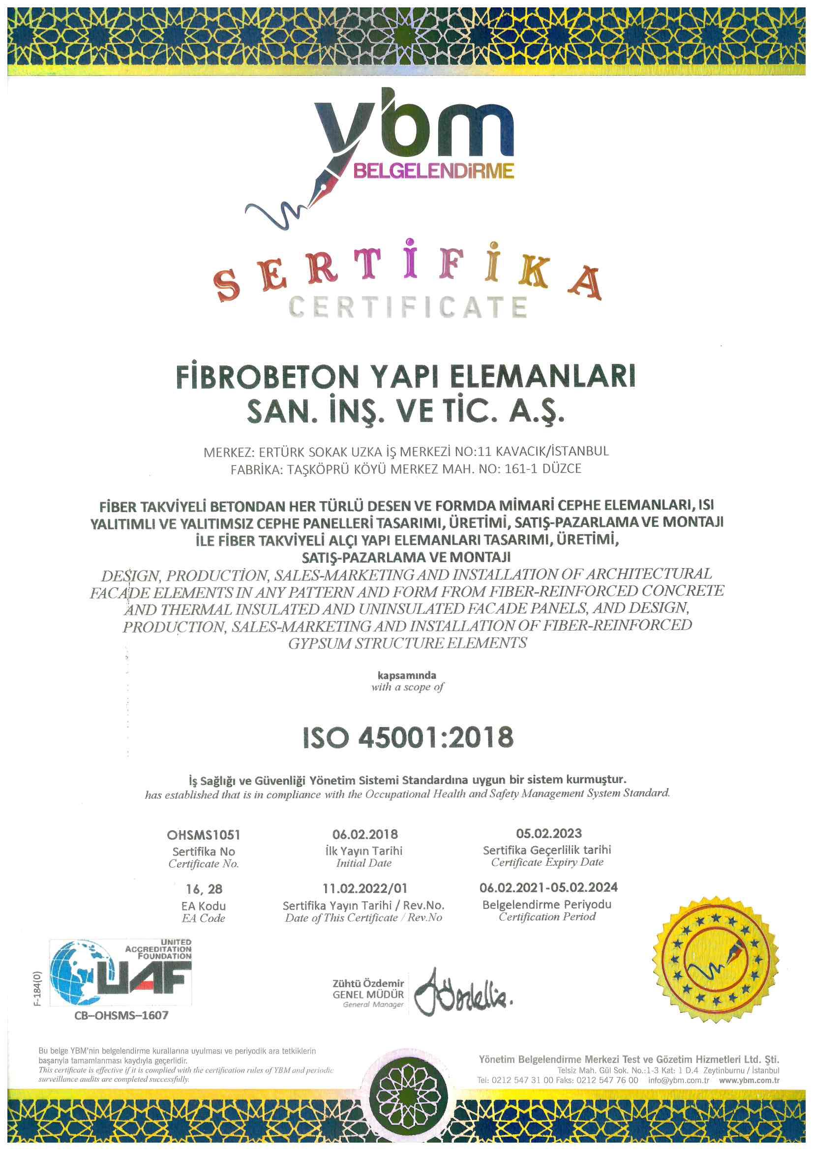 OHSAS 18001:2018
