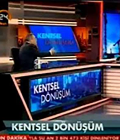 """Fibrobeton Kanal 24 """"Kentsel Dönüşüm"""" (22 Şubat 2014) Dündar Yetişener Canlı Yayın KonuğuKanal 24 TV 22.02.2014 Dundar Yetisener Is The Live Broadcast Guest"""
