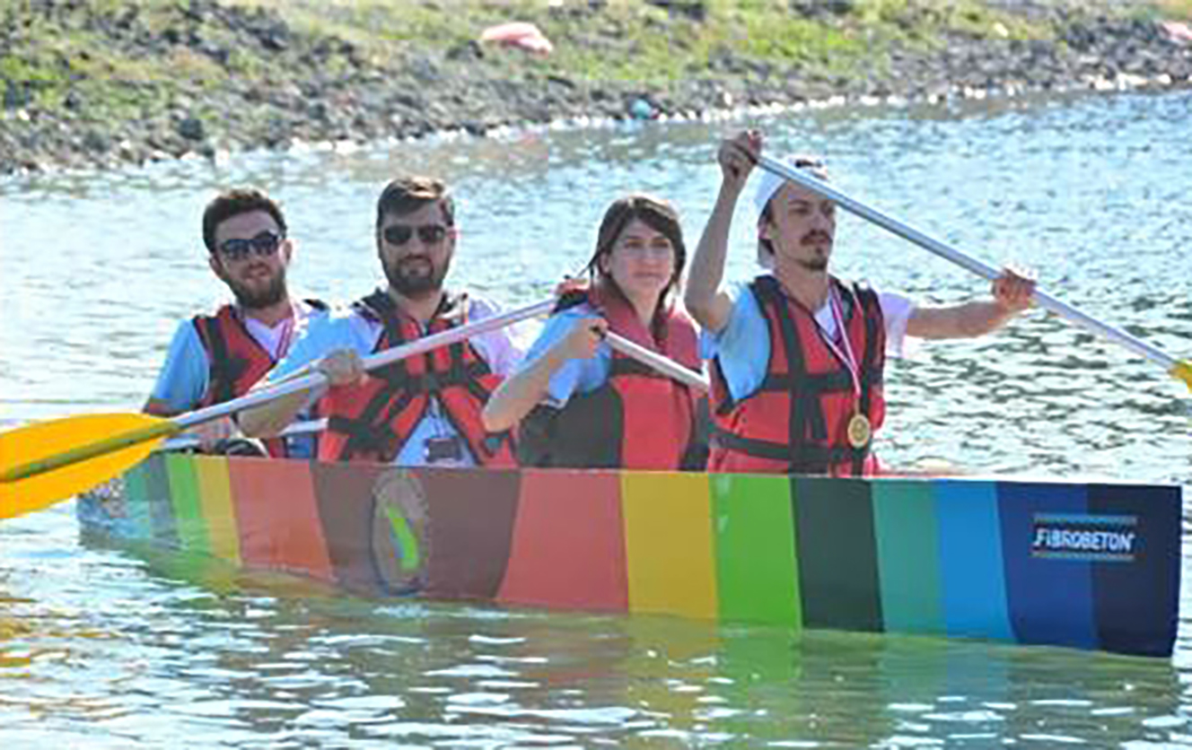 Fibrobeton First Place In The Competition Of Concrete Canoe Competition Sponsored By Fibrobeton