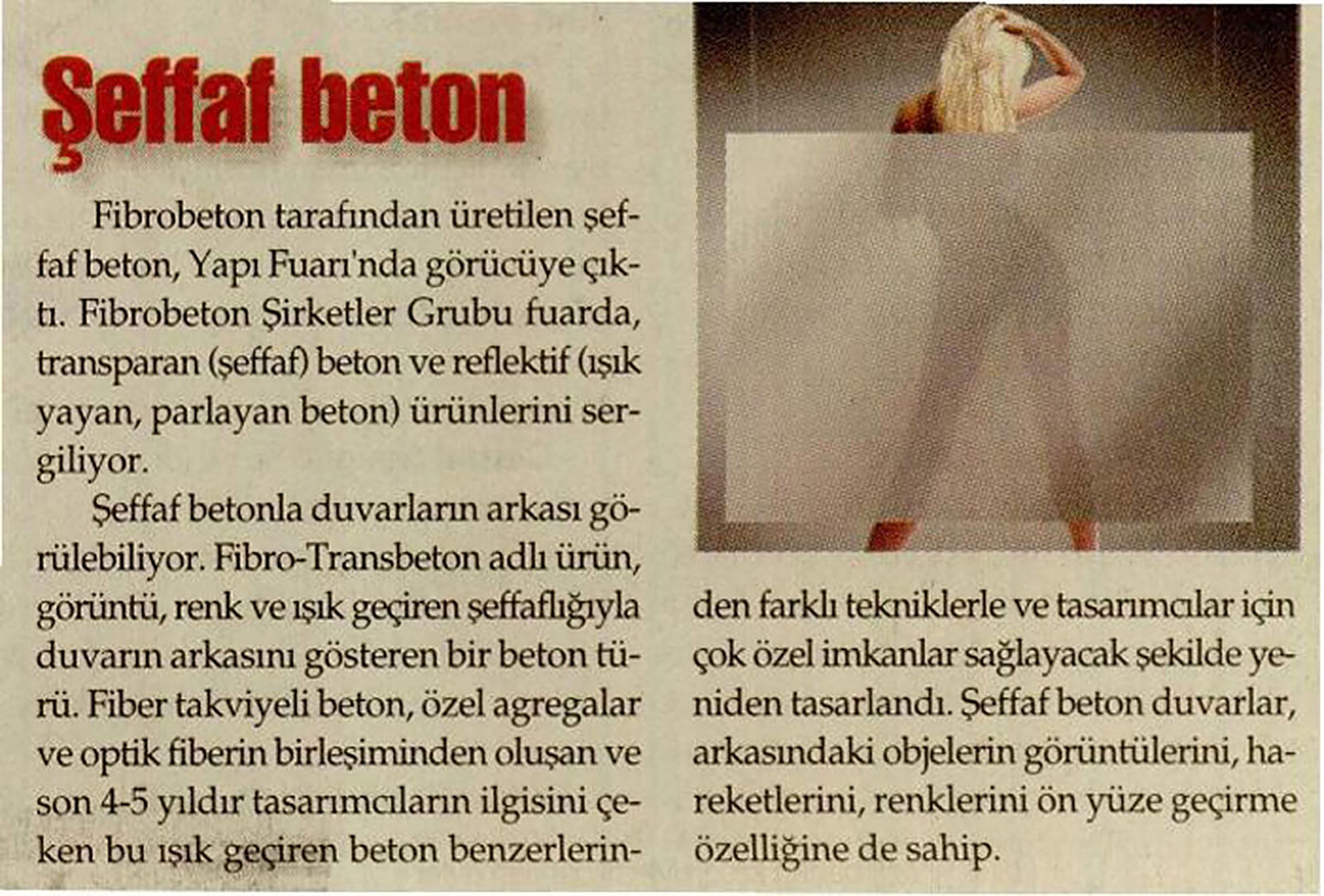 Fibrobeton Translucent Concrete