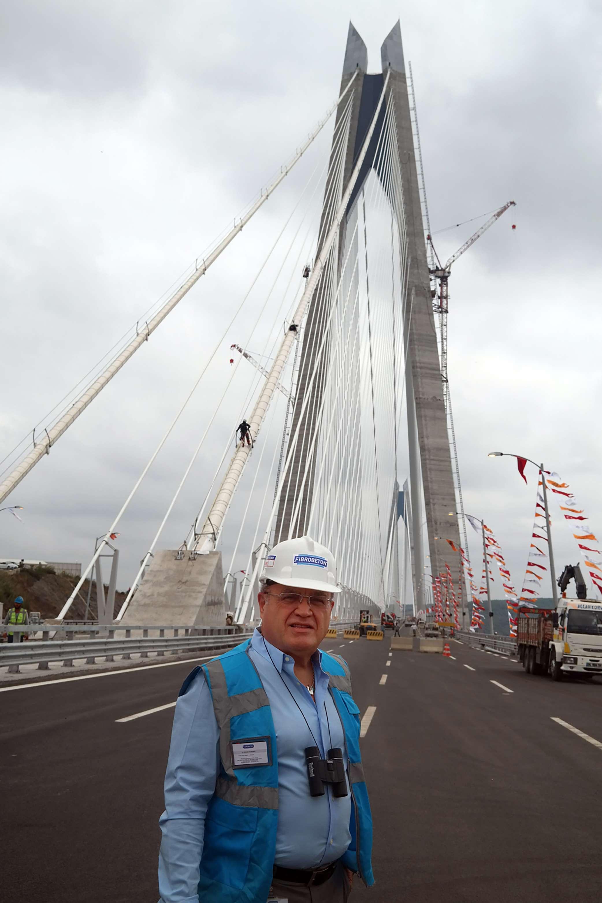 Fibrobeton Yavuz Sultan Selim Köprüsünün Tacını Fibrobeton Giydirdi…